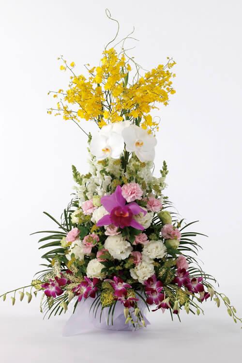 生花No.65 アレンジ生花【旭川のやわらぎ斎場へお届け】