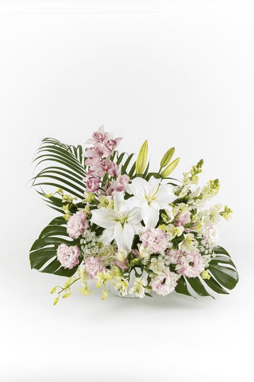 生花No.83 アレンジ生花【札幌のやわらぎ斎場へお届け】