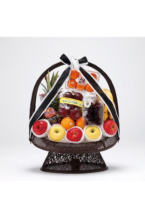 No.390 盛かご 果物【深川のやわらぎ斎場へお届け】