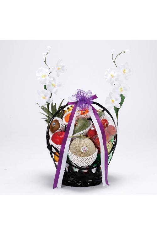 No.330 盛かご 果物【小樽のやわらぎ斎場へお届け】