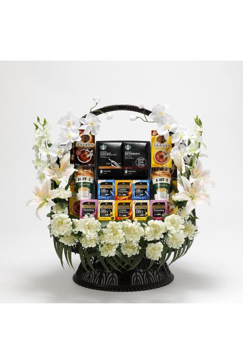 No.494 盛かご コーヒー・紅茶・ココア【札幌のやわらぎ斎場へお届け】